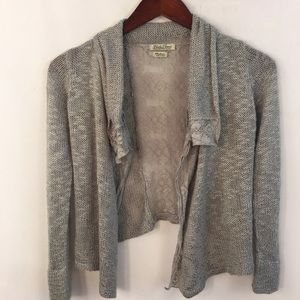 Lucky Brand Knitted Sweater Cardigan Size M Lace